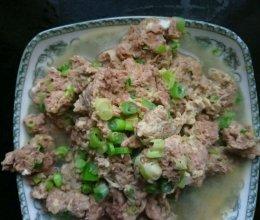 胶东小吃--鲜虾酱炒鸡蛋的做法