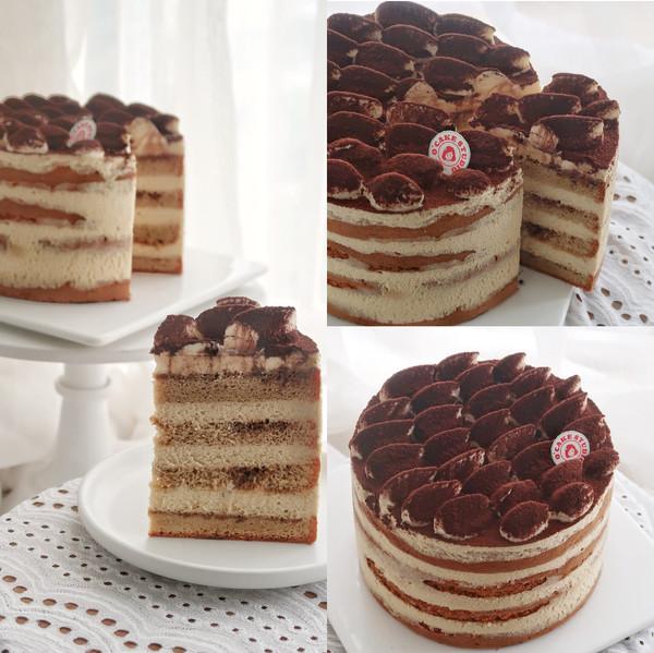 咖啡海绵蛋糕版提拉米苏——6寸无酒精的做法