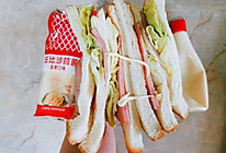 #丘比三明治#火腿生菜三明治的做法