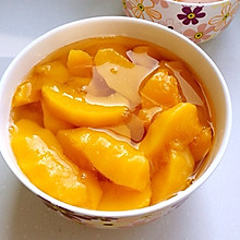 自制冰糖黄桃罐头