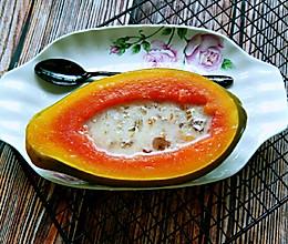 桃胶雪燕炖木瓜的做法