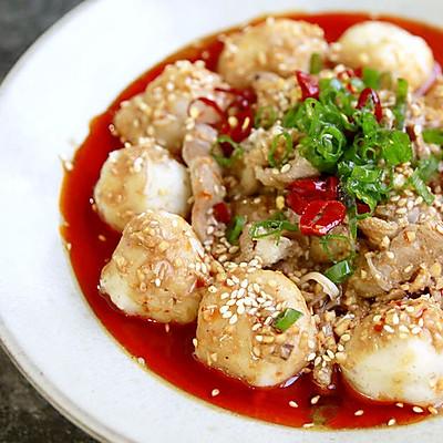 营养凉拌菜之麻酱冷吃墨鱼丸