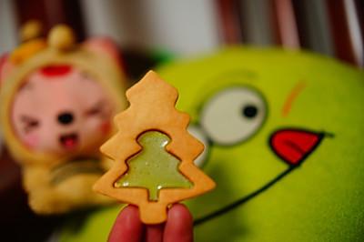 圣诞树透明糖心饼干