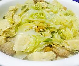 东北大白菜炖冻豆腐的做法