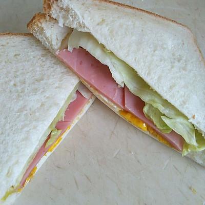 家庭简易三明治