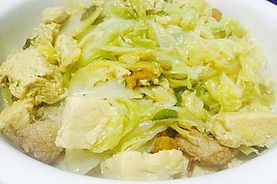 东北大白菜炖冻豆腐