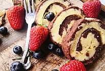 双色蛋糕卷#餐桌上的春日限定#的做法