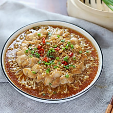 蒜蓉金针菇蒸鸡胸肉
