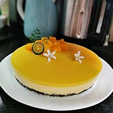 无淡奶油版8寸芒果酸奶慕斯蛋糕