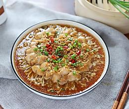 蒜蓉金针菇蒸鸡胸肉的做法