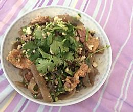 烧烤肉炒蒜蓉土豆粉的做法