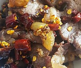 云南菜~油淋牛干巴的做法