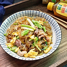 鲜汁肉炒粉签#太太乐鲜鸡汁蒸鸡原汤#