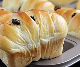 葡萄干小面包卷(中种)#美的烤箱菜谱#的做法