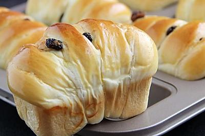 葡萄干小面包卷(中种)#美的烤箱菜谱#