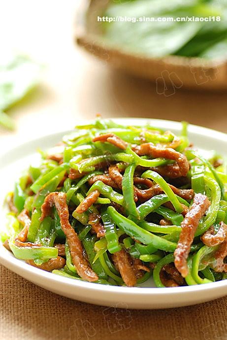 青椒肉丝的做法