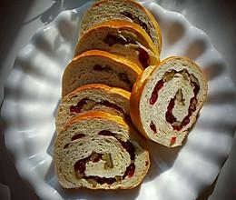 面包之~蔓越莓果仁列巴的做法