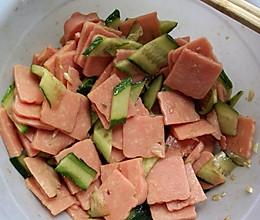 黄瓜拌火腿的做法