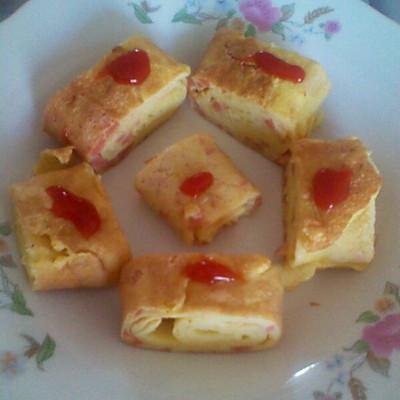 火腿蛋饼卷(厚蛋烧)