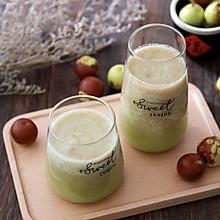 #秋天怎么吃#冬枣苹果汁