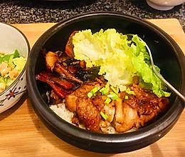 10分钟快手晚餐能治愈一身疲惫的照烧鸡腿饭的做法