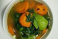 刷油芥菜红薯汤的做法