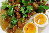 萝卜牛腩鸡蛋面的做法