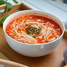 西红柿金针菇浓汤