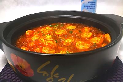 咖喱粉丝虾煲
