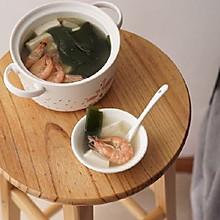 清热解暑的鲜虾海带豆腐汤