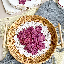 无油无糖低脂健康紫薯小饼干