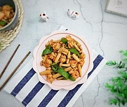 虾仁炒海鲜菇的做法