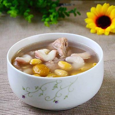 老菱白果龙骨汤
