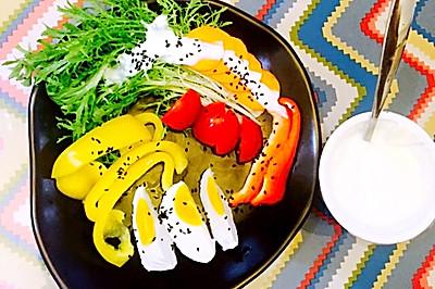 蔬菜沙拉,减肥餐,简单餐