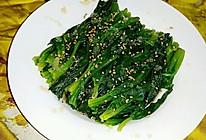 芝麻菠菜的做法