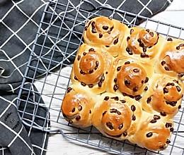 蜜红豆面包卷的做法