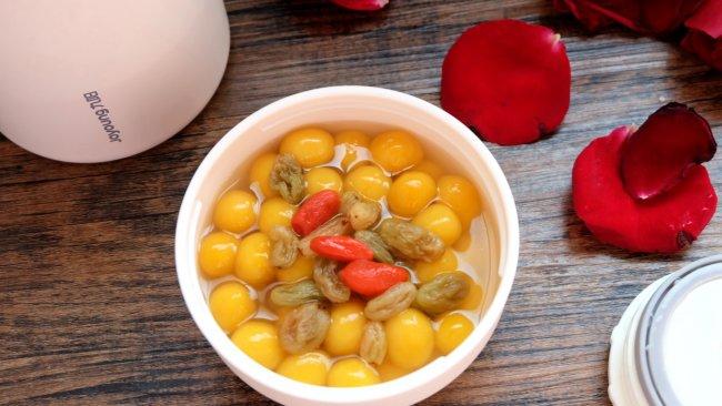 南瓜糯米圆子甜汤的做法