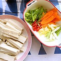 鱼香千叶豆腐条 懒人福音&下饭利器的做法图解1