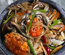 石锅粉丝螃蟹煲的做法