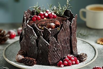 日食記 | 圣誕樹樁蛋糕