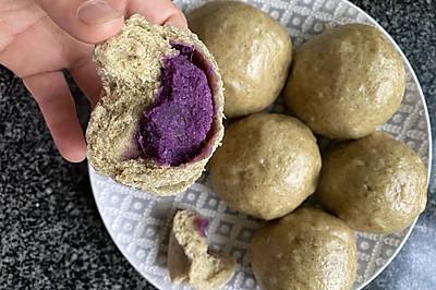 紫薯夹心无糖全麦黄瓜馒头