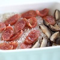 腌笃鲜+香菇腊肠焖饭+虾仁蒸蛋的做法图解13