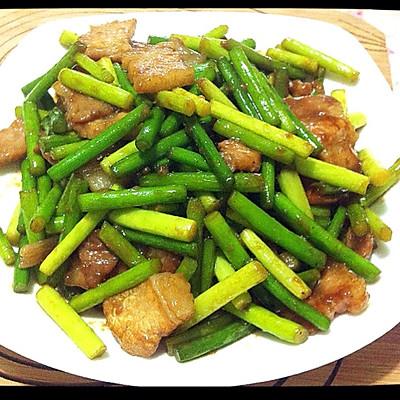 肉炒蒜薹(肉炒蒜苔)