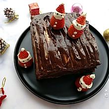 #令人羡慕的圣诞大餐#圣诞巧克力夹心蛋糕