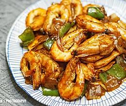 换个口味吃虾~黑胡椒对虾。的做法