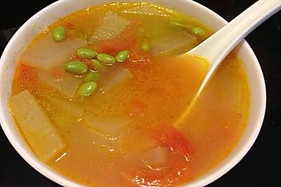 番茄毛豆冬瓜汤