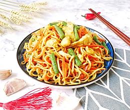 #快手又营养,我家的冬日必备菜品#家常素焖面的做法