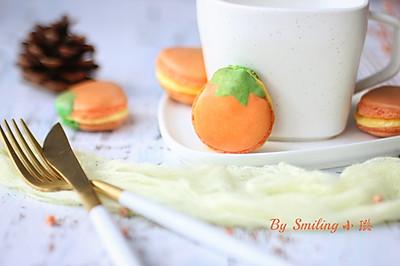 金秋小柿马卡龙#马卡龙·奶油蛋糕看过来#