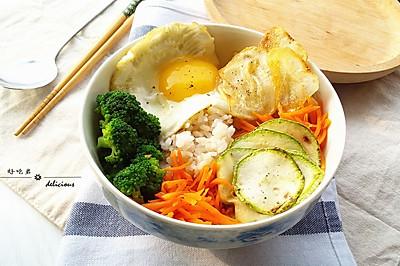 时蔬糙米饭