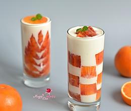 血橙酸奶杯#浪漫樱花季#的做法